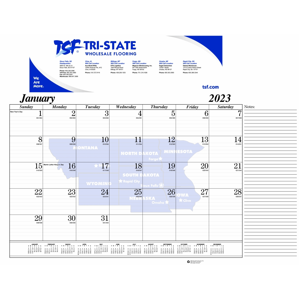 Calendar Head Design : Series desk pad calendar gummed at head or foot