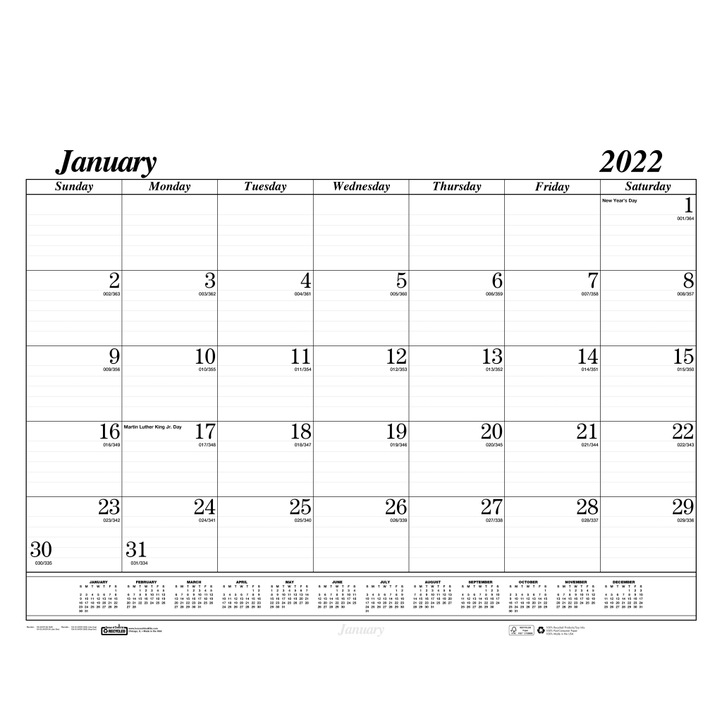 Monthly Desk Pad Calendar Refill Economy Compatible With