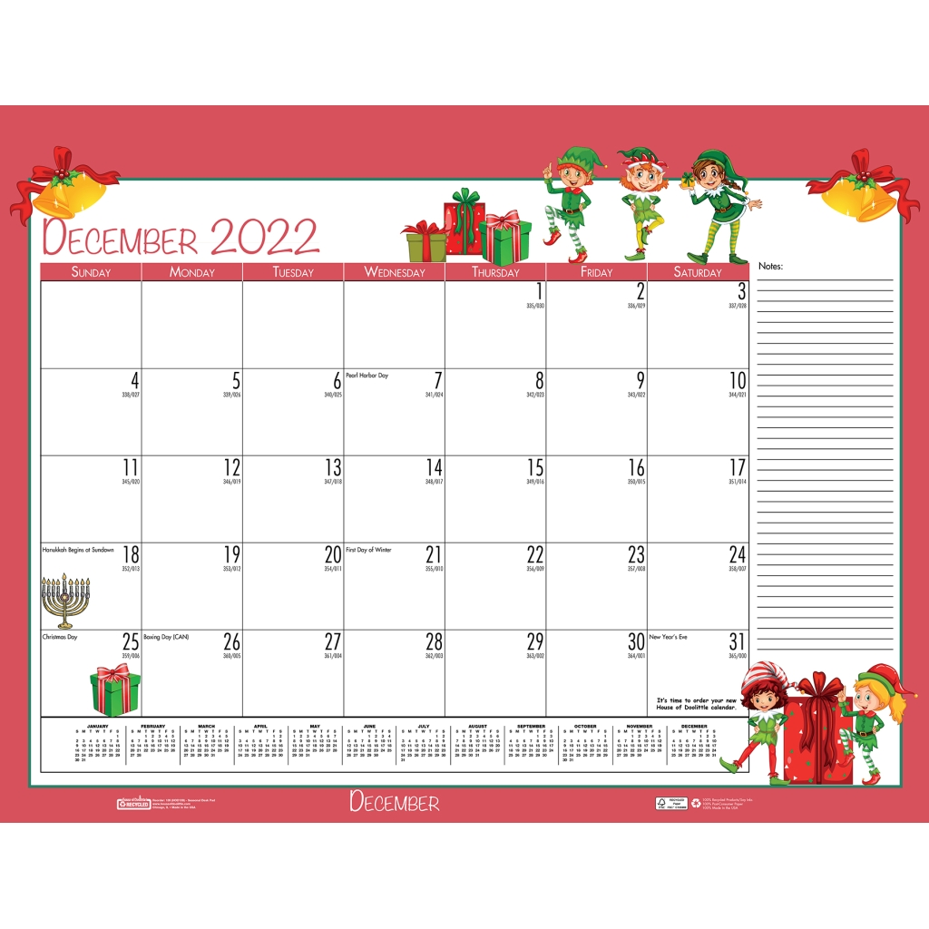 Monthly Deskpad Calendar Academic Seasonal Holiday ...