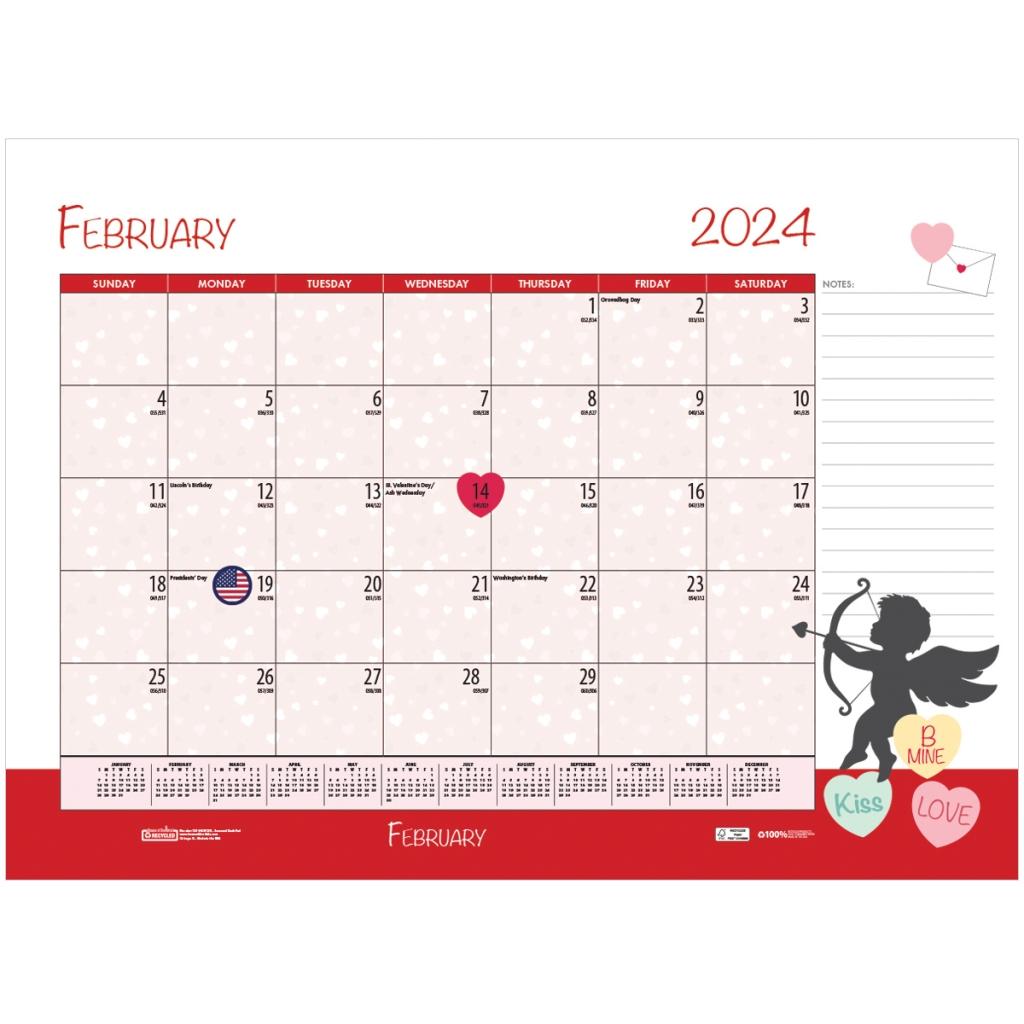 Monthly Deskpad Calendar Seasonal Holiday Depictions 22 X
