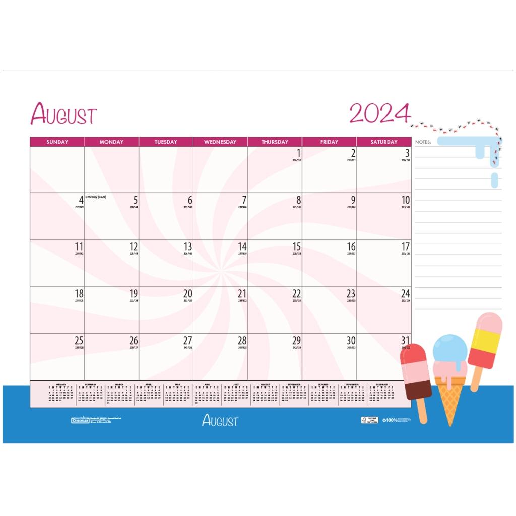 Monthly Deskpad Calendar Seasonal Holiday Depictions 22 X 17