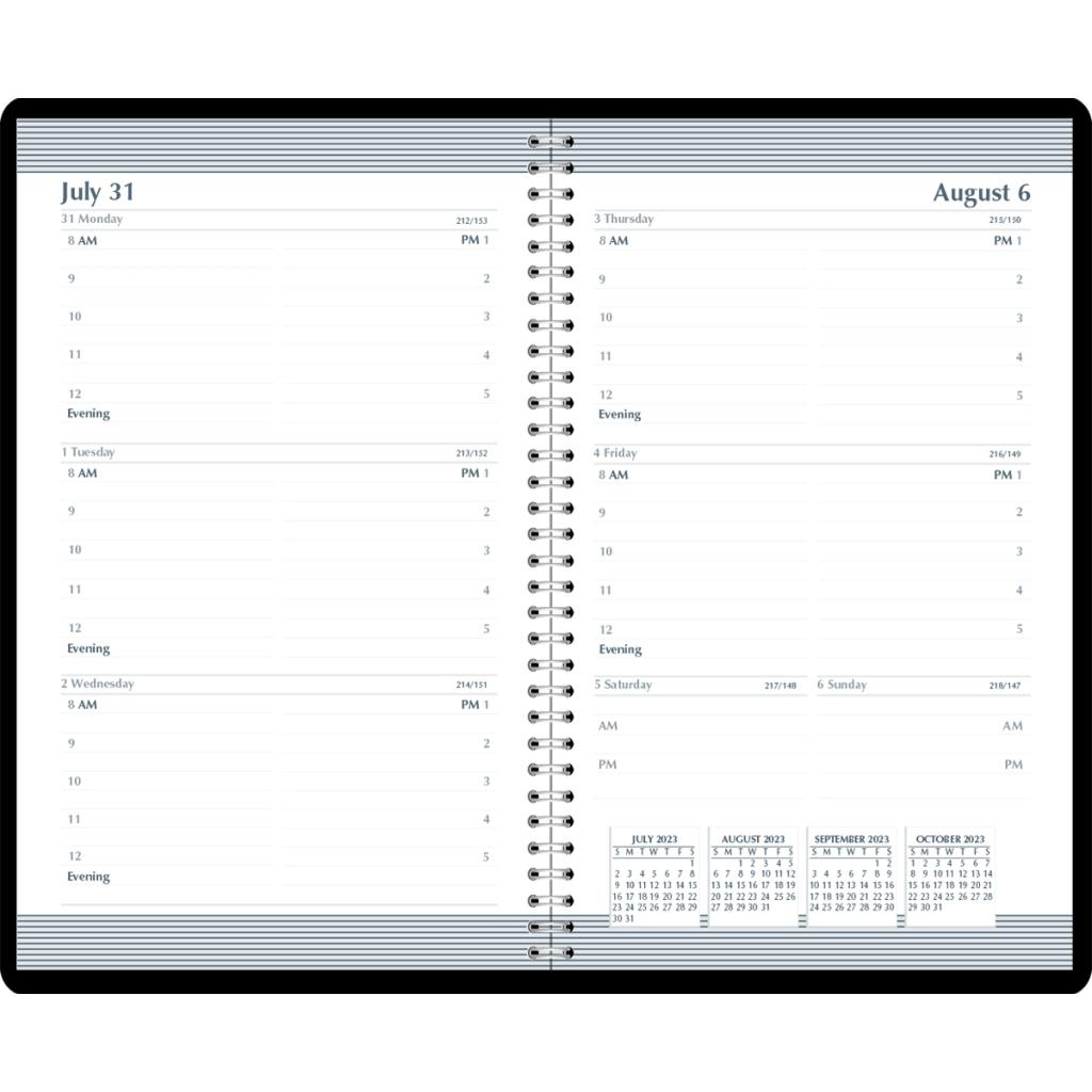 Weekly Calendar Academic Planner Horizontal Format Black 5