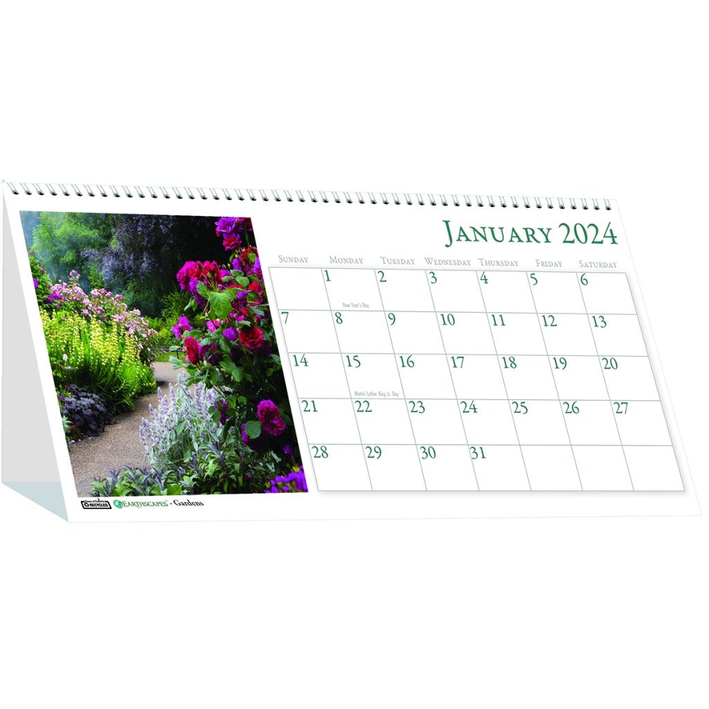 Monthly Desktop Tent Calendar Earthscapes Garden 8 1 2
