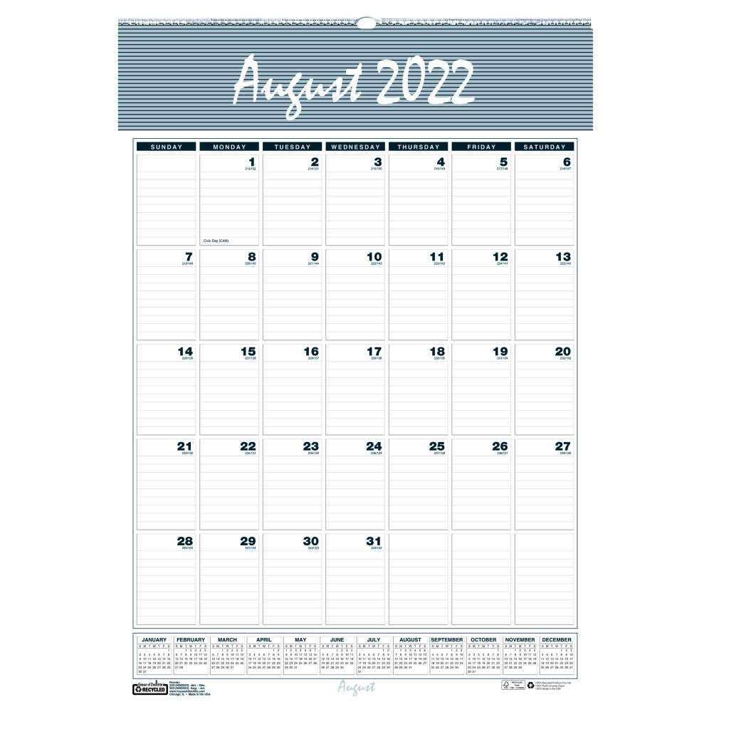 monthly wall calendar academic bar harbor 22 x 31 1 4 inches house