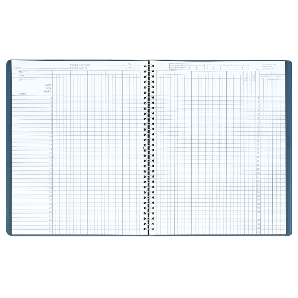 Combination Lesson Planner and Class Record Planner Blue 8-1