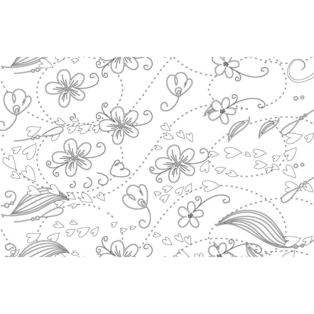 Doodle Notebook Black and White Coloring Hard Cover 7 x 9