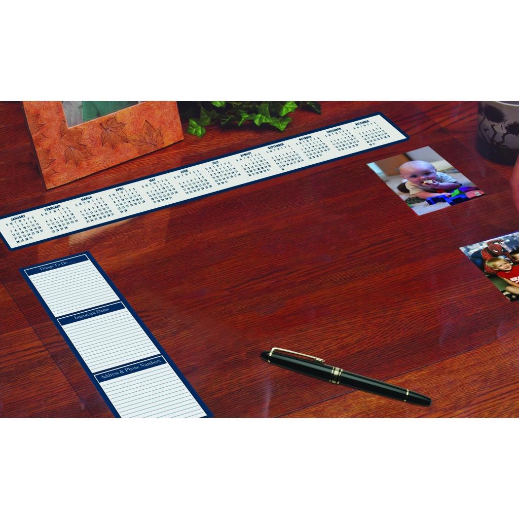 See Thru Desk Pad Organizer Extra Heavy Gauge Vinyl 36 X 20 Inch
