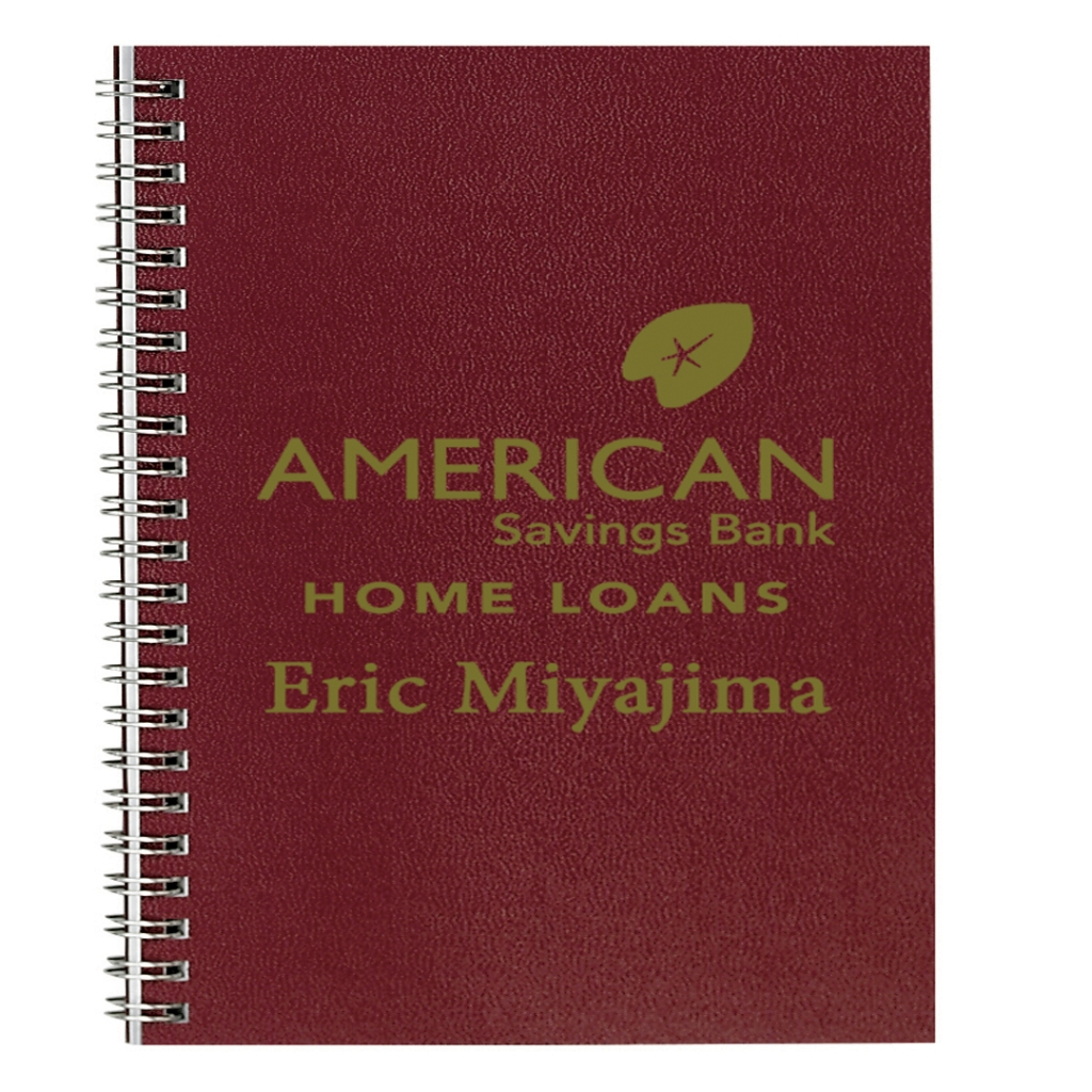 Monthly Seasonal Academic Planner with Burgundy Leatherette Cover 7 x 10 Inches