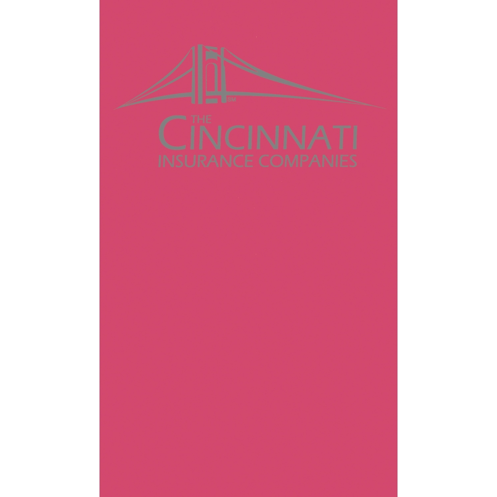 Monthly Pocket Planner with Dark Pink Leatherette Cover 3-5/8 x 6-1/2 Inches