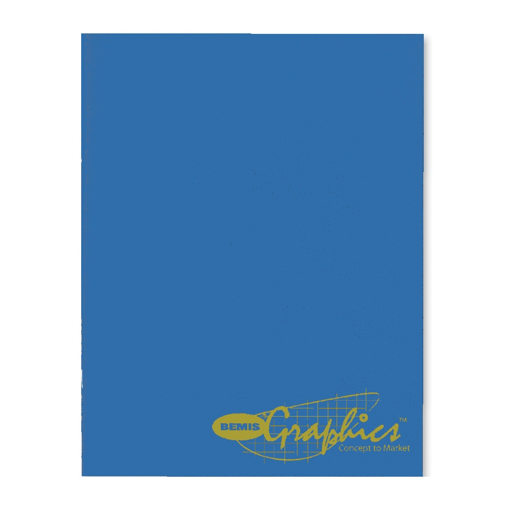 Monthly Planner with One-Piece Bright Blue Leatherette Cover 8-1/2 x 11 Inches