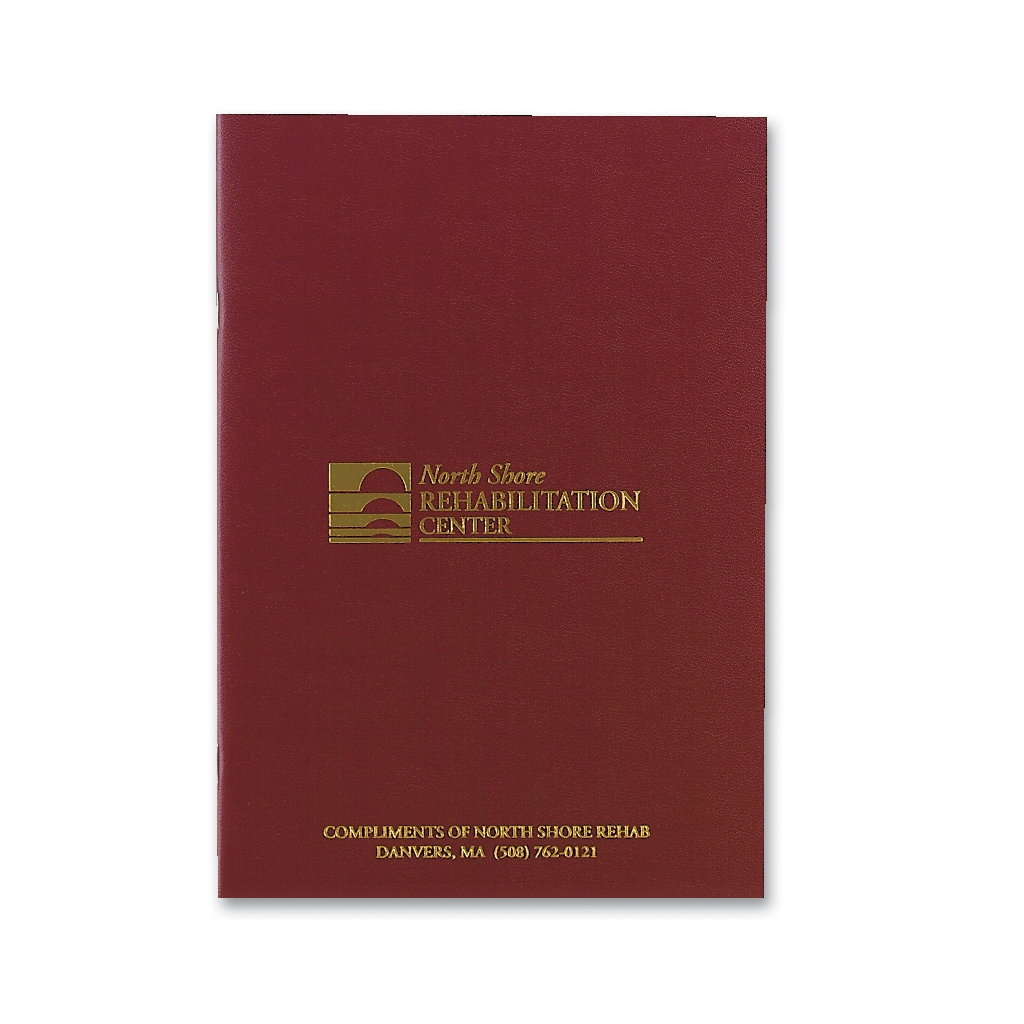 Academic Monthly Planner with Burgundy Leatherette Cover 7 x 10 Inches