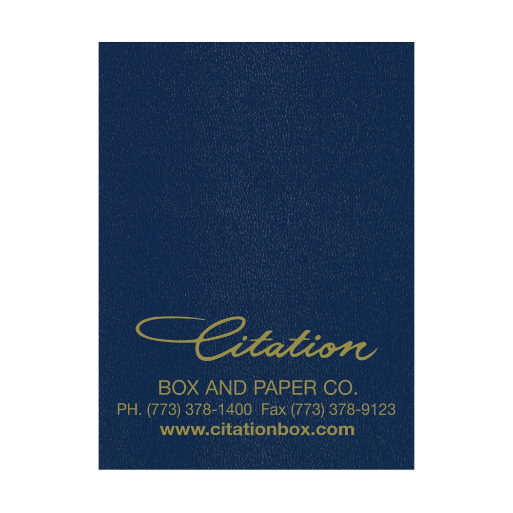 Academic Monthly Planner with Blue Leatherette Cover 7 x 10 Inches