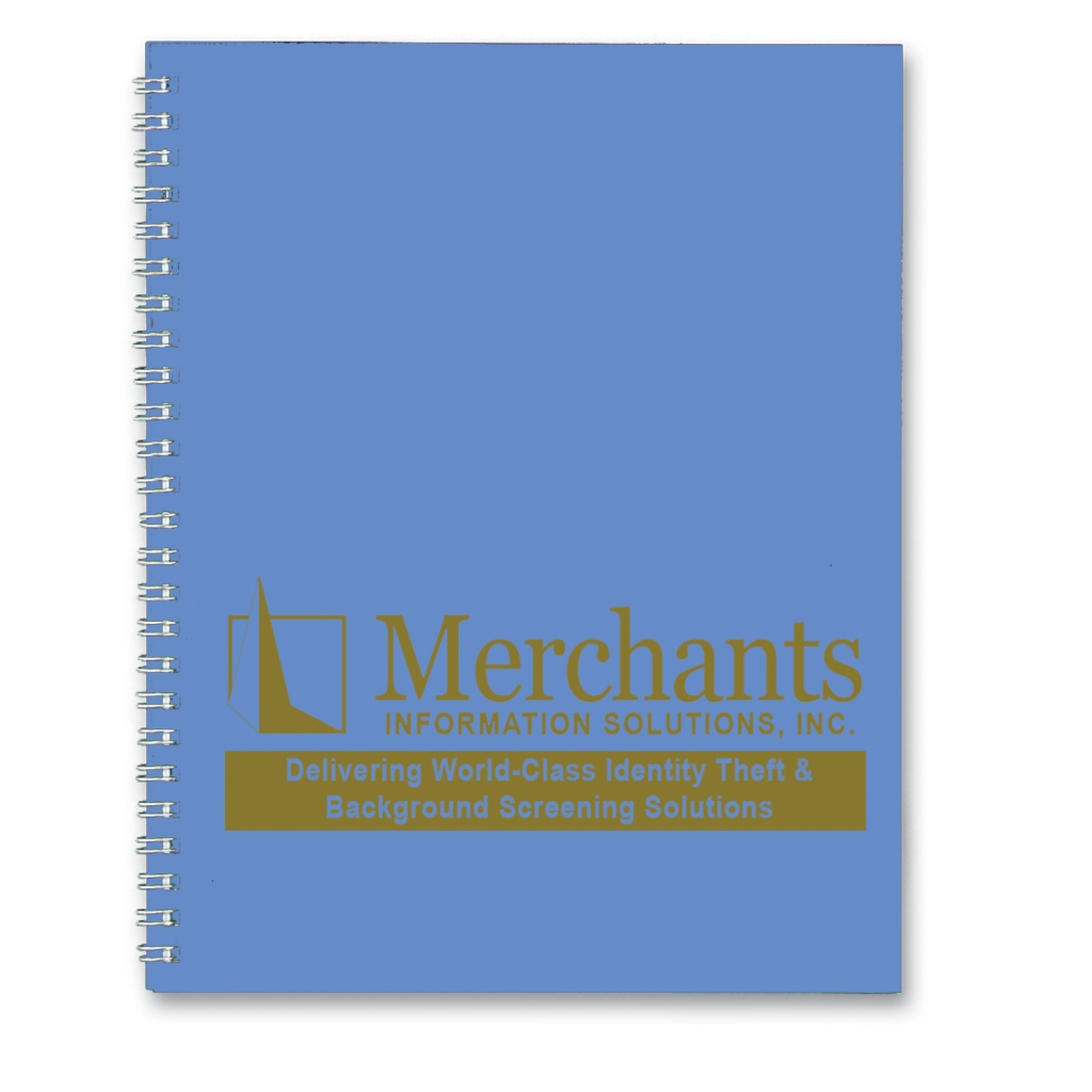 Academic Monthly Planner with Two-Piece Bright Blue Leatherette Cover 8-1/2 x 11 Inches