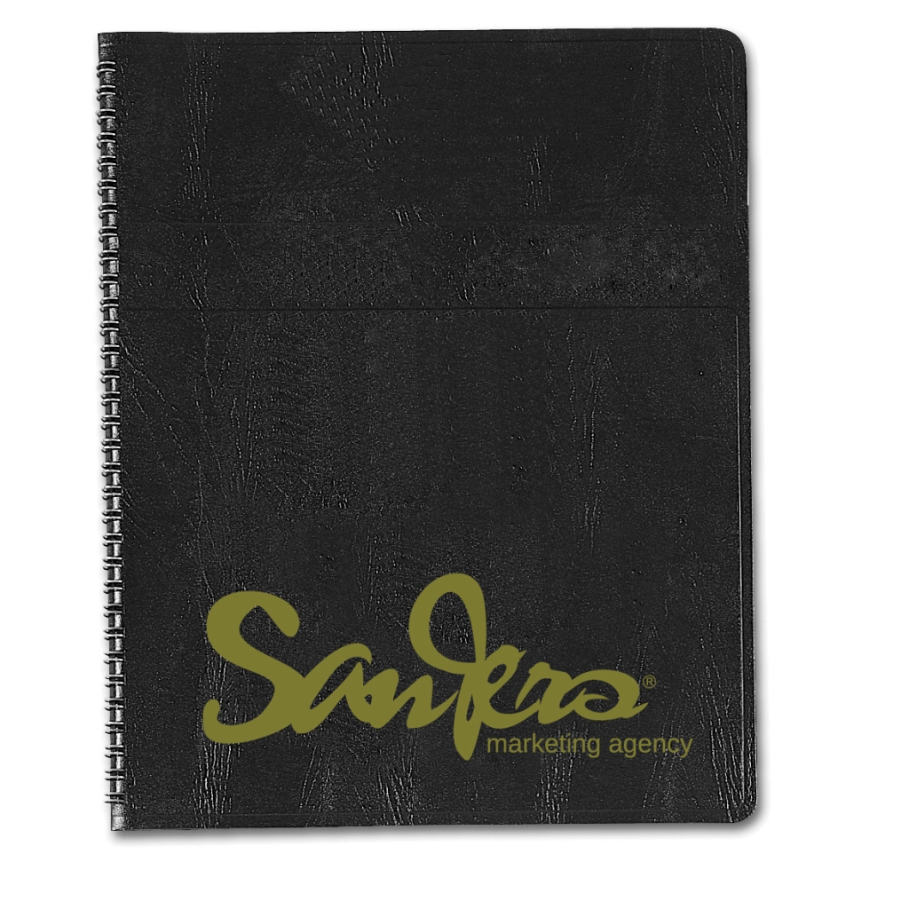 2-Year Professional Weekly Planner with Black Embossed Simulated Leather Cover 8-1/2 x 11 Inches