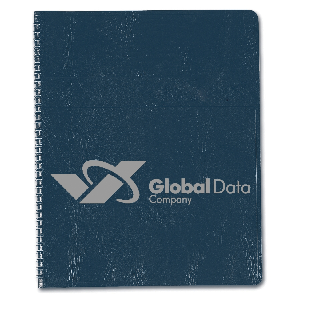 Professional Weekly Planner with Blue Embossed Simulated Leather Cover 8-1/2 x 11 Inches