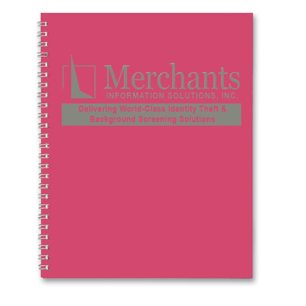 Professional Weekly Planner with Dark Pink Leatherette Cover 8-1/2 x 11 Inches