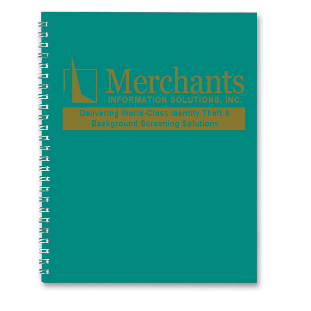 Professional Weekly Planner with Bright Green Leatherette Cover 8-1/2 x 11 Inches