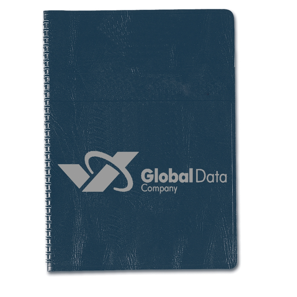 Weekly Planner with One-Piece Blue Embossed Simulated Leather Cover 5 x 8 Inches