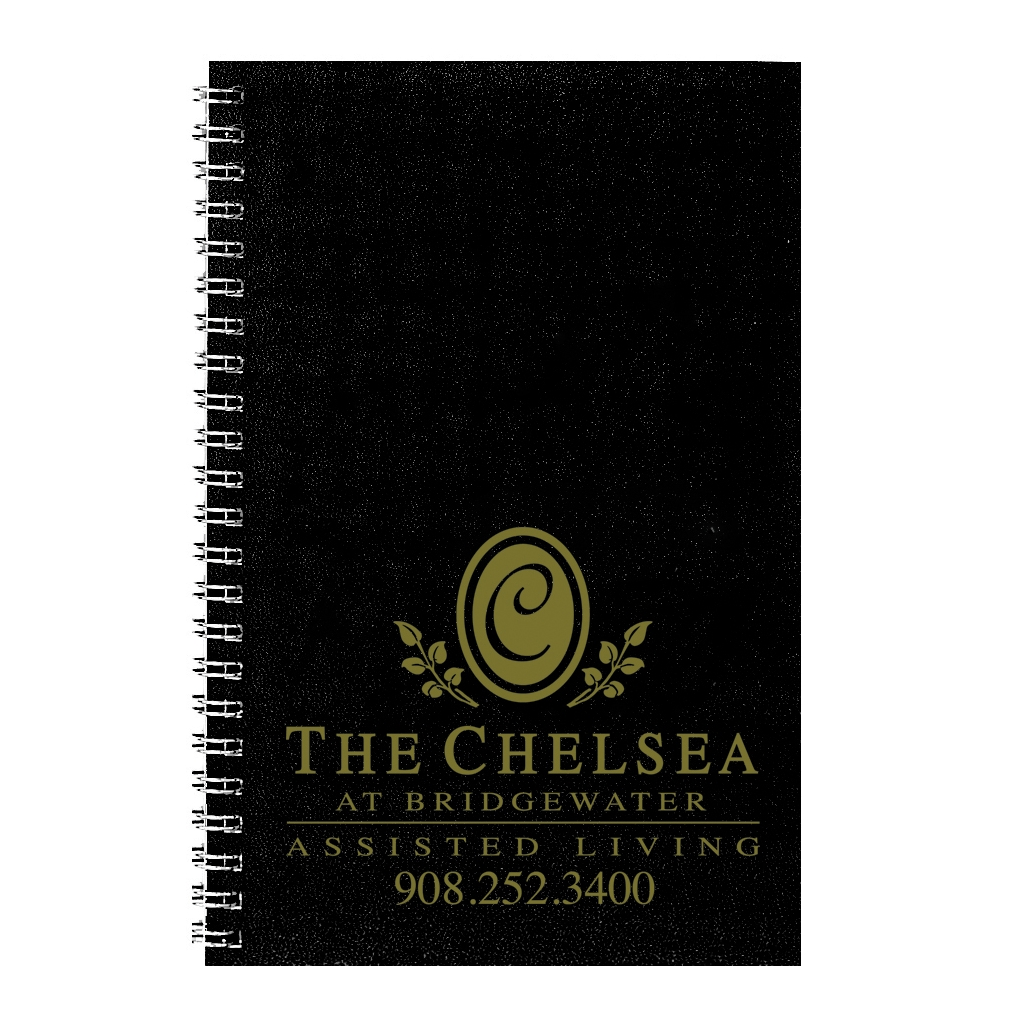 Weekly Planner with Two-Piece Black Leatherette Cover 5 x 8 Inches