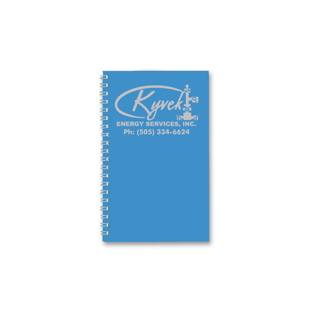 Weekly Planner with Two-Piece Bright Blue Leatherette Cover 5 x 8 Inches