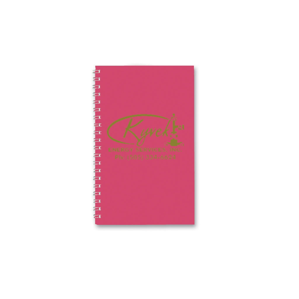 Daily Planner with Dark Pink Leatherette Cover 5 x 8 Inches