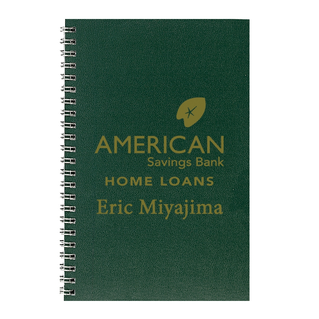 Daily Planner with Green Leatherette Cover 5 x 8 Inches