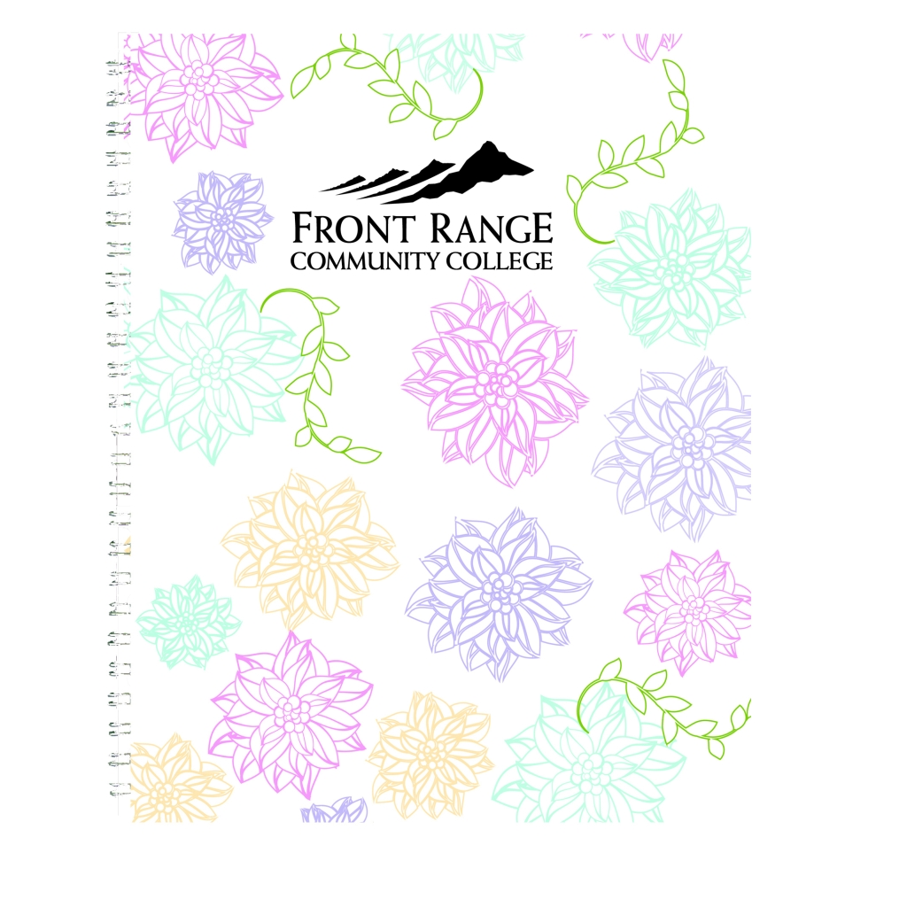Whimsical Imprinted Doodle Notebook Coloring Hard Cover 7 x 9 Inches
