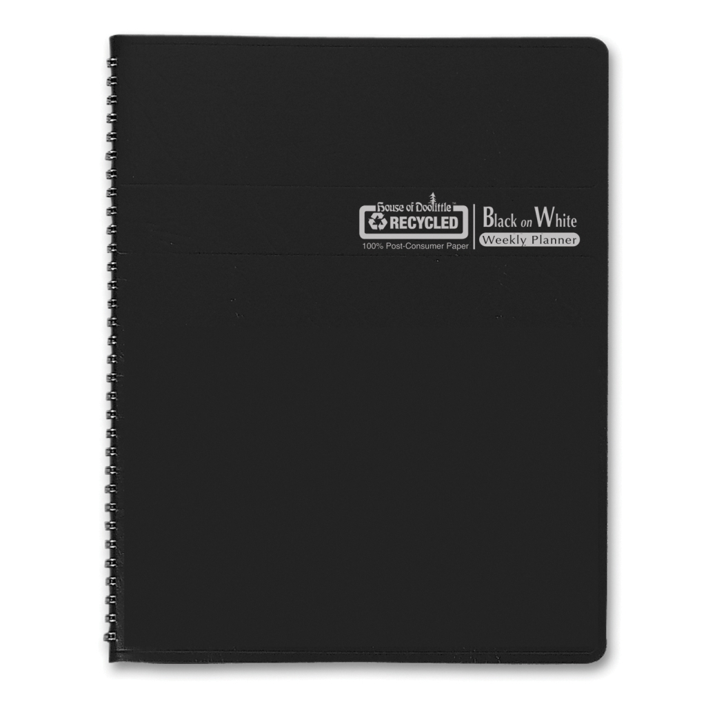 Weekly Calendar Planner Black on White Series 8-1/2 x  11 Inches
