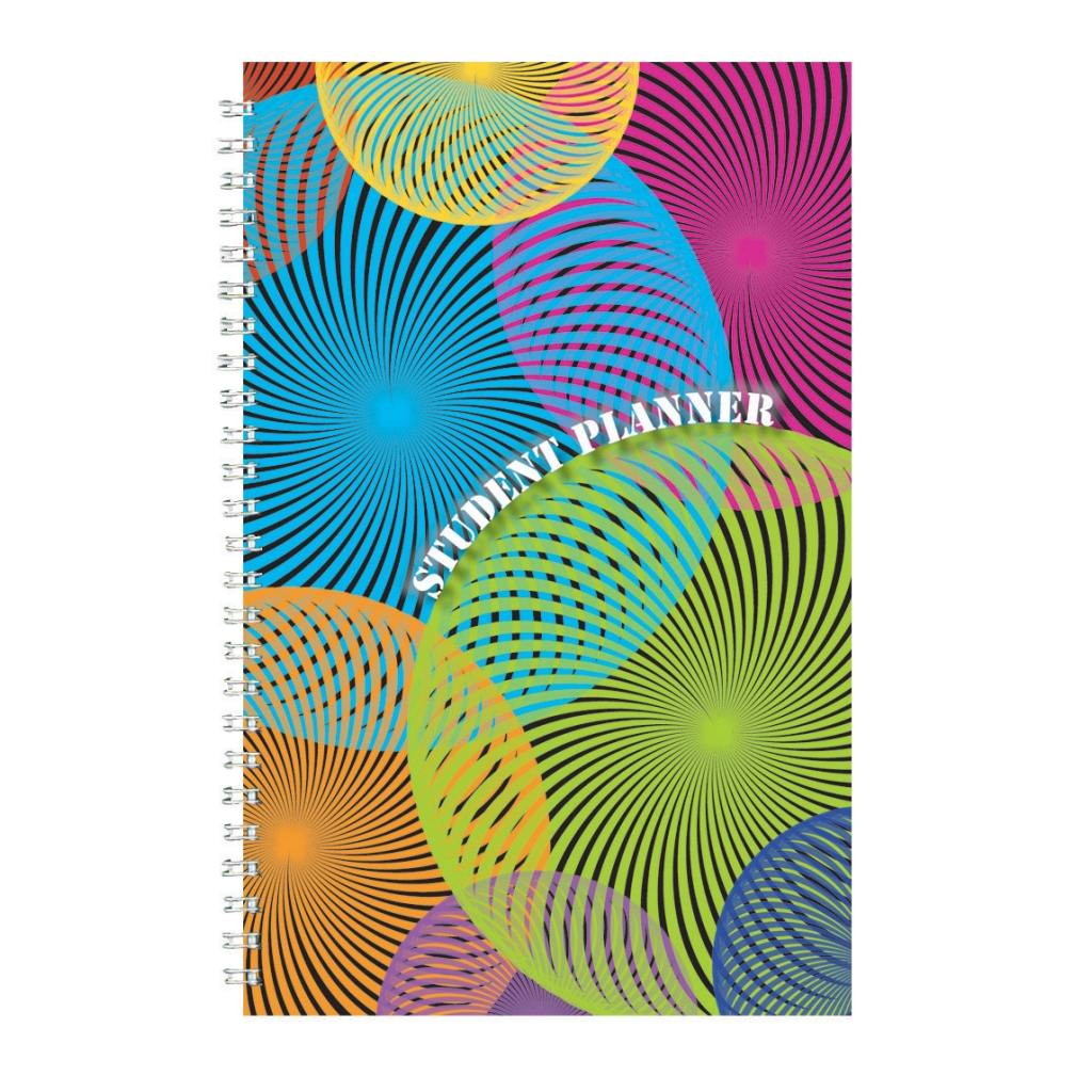 Non-Dated Student Planner/Assignment Book Spiral 7 x 11 Inch