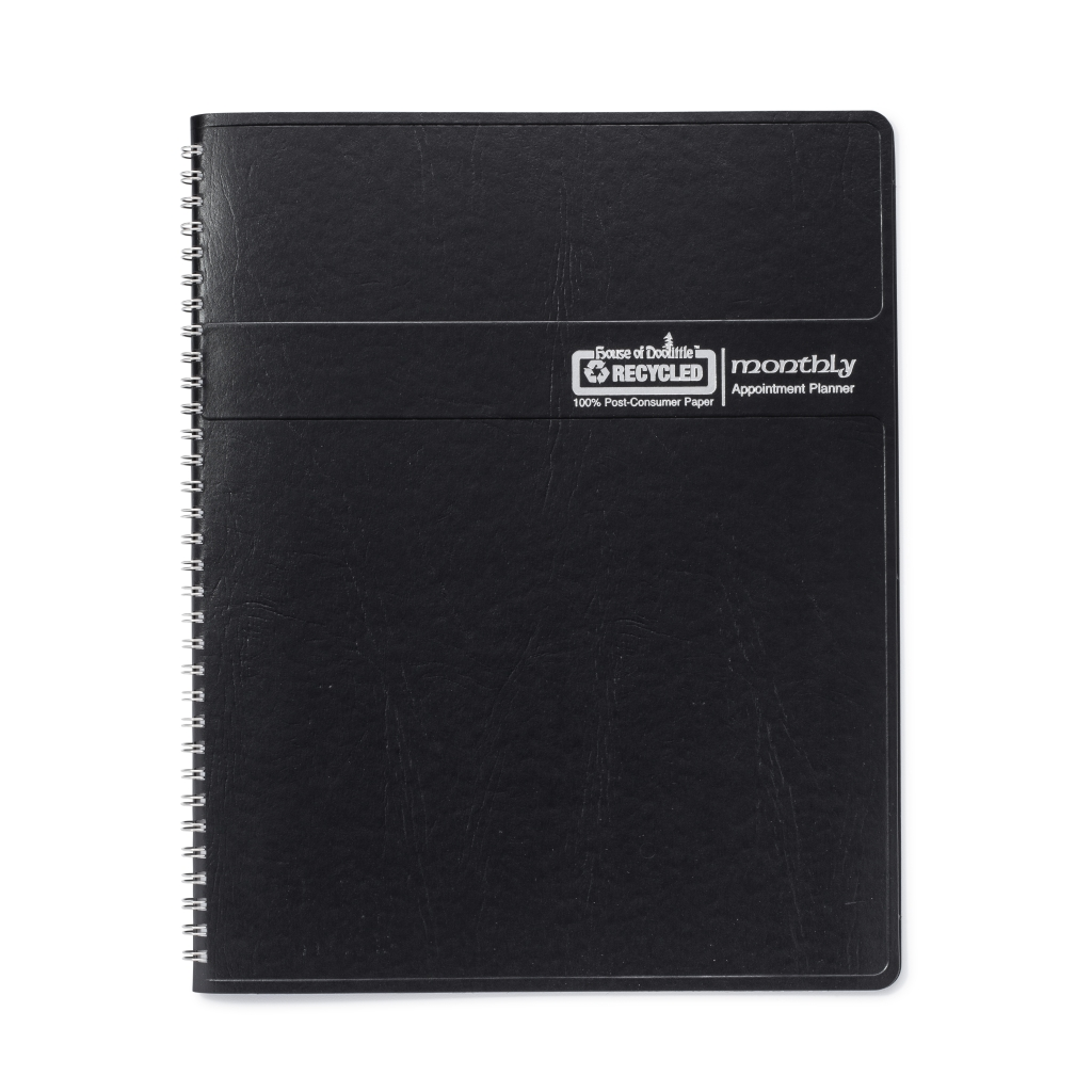 Monthly Calendar Planner Black 6.8 x 8.75 Inches