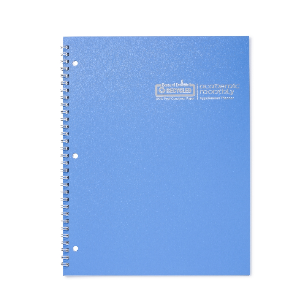 Monthly Calendar Planner Academic Bright Blue 8-1/2 x  11 Inches