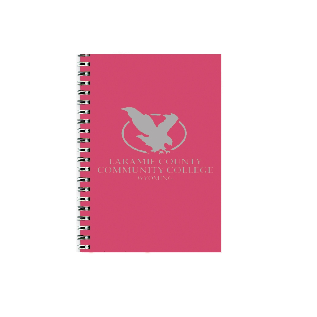 Imprinted Academic Monthly Planner with Dark Pink Leatherette Cover 8-1/2 x 11 Inches
