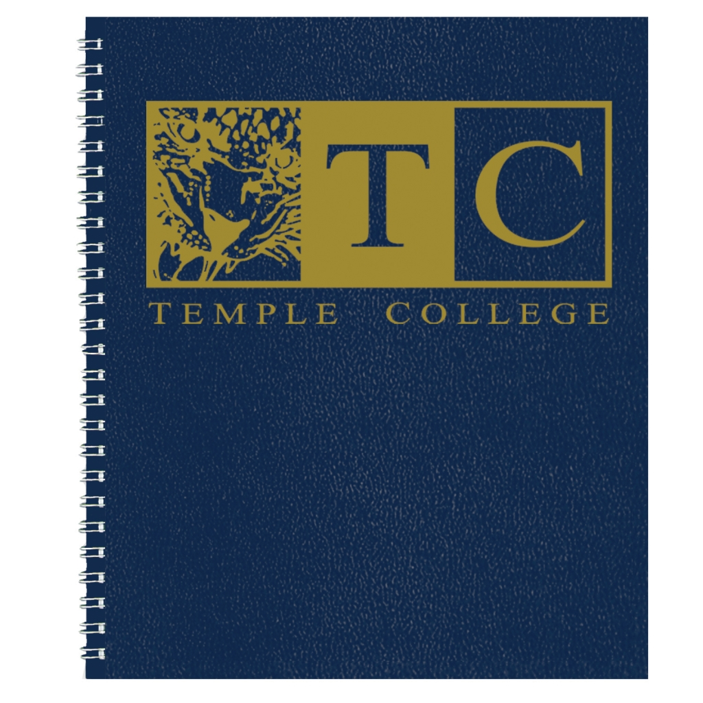 Imprinted Academic Monthly Planner with Blue Leatherette Cover 8-1/2 x 11 Inches