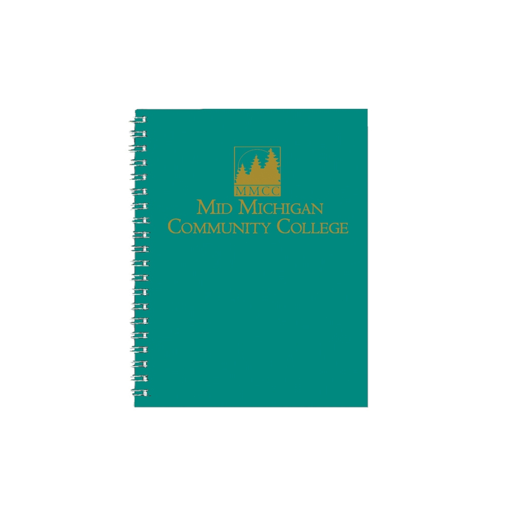 Imprinted Academic Monthly Planner with Bright Green Leatherette Cover 8-1/2 x 11 Inches