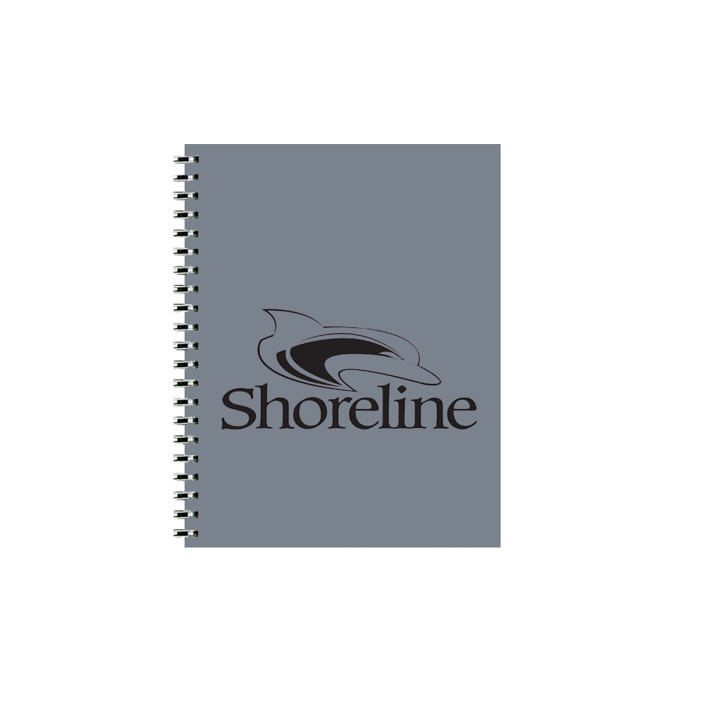 Imprinted Academic Monthly Planner with Graphite Leatherette Cover 8-1/2 x 11 Inches