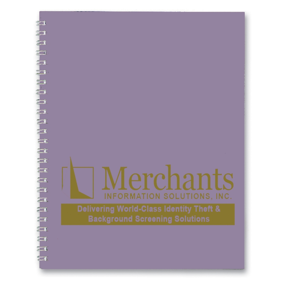 Imprinted Academic Monthly Planner with Lt Purple Leatherette Cover 8-1/2 x 11 Inches