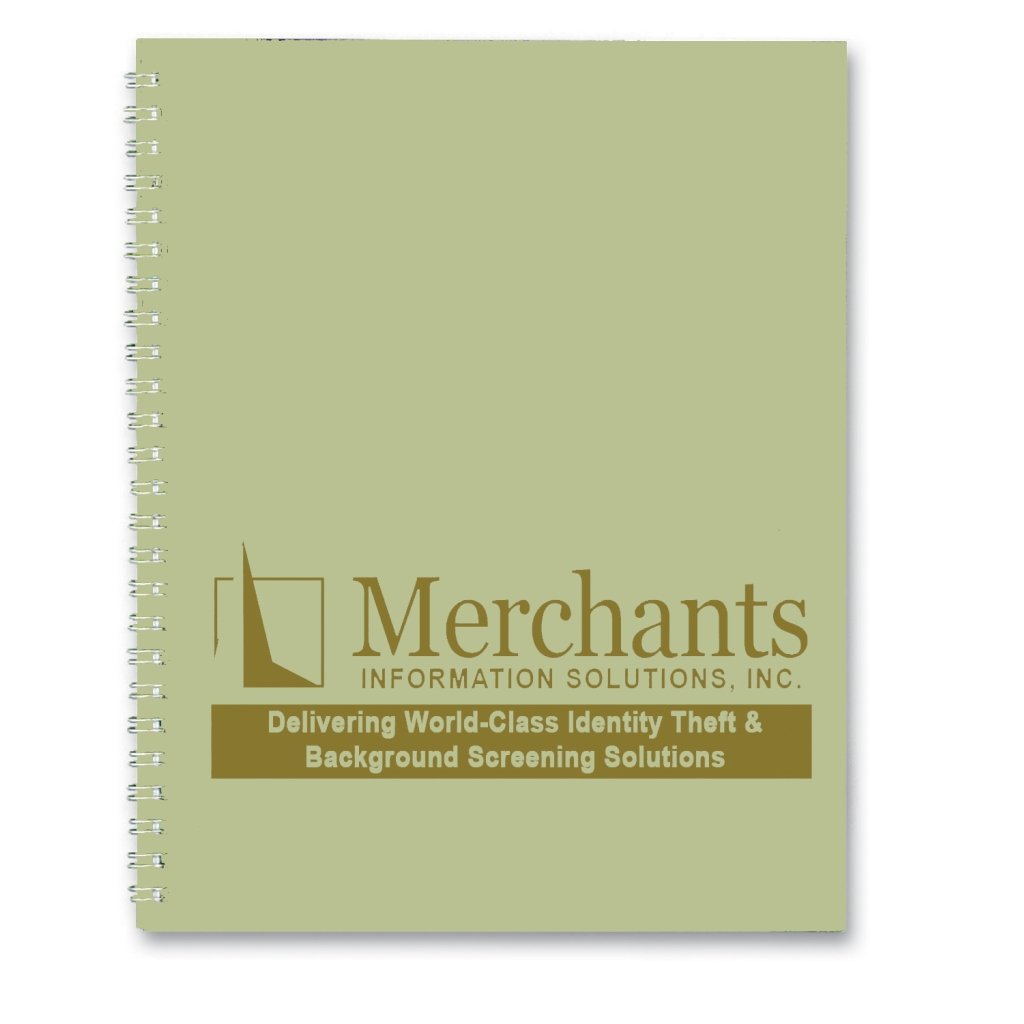 Imprinted Academic Monthly Planner with Lt Green Leatherette Cover 8-1/2 x 11 Inches