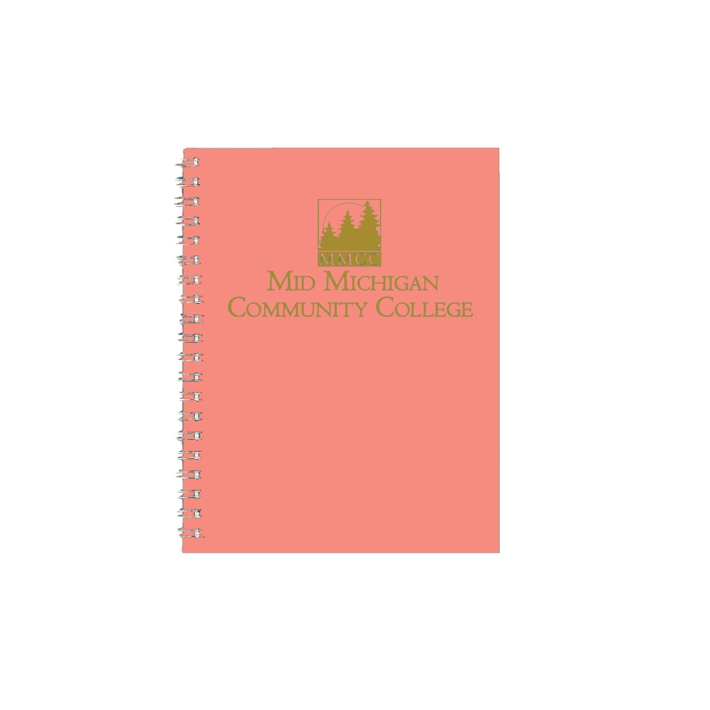 Imprinted Academic Monthly Planner with Lt Orange Leatherette Cover 8-1/2 x 11 Inches