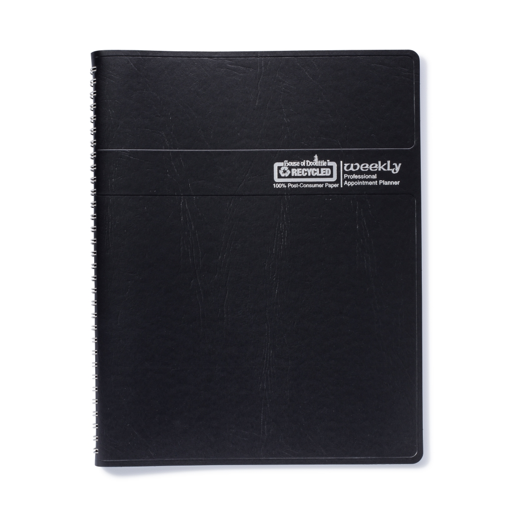 Weekly Calendar Planner Professional Black 8-1/2 x  11 Inches