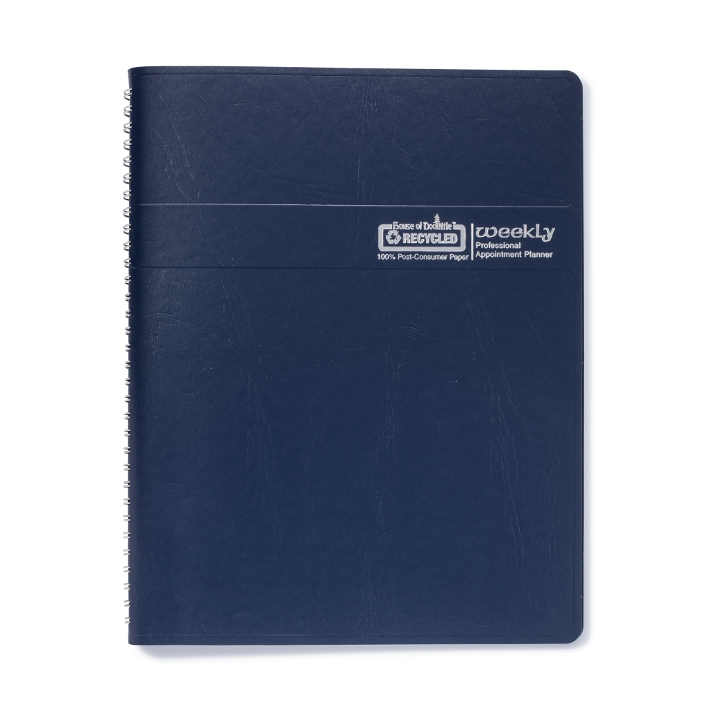 Weekly Calendar Planner Professional Blue 8-1/2 x  11 Inches