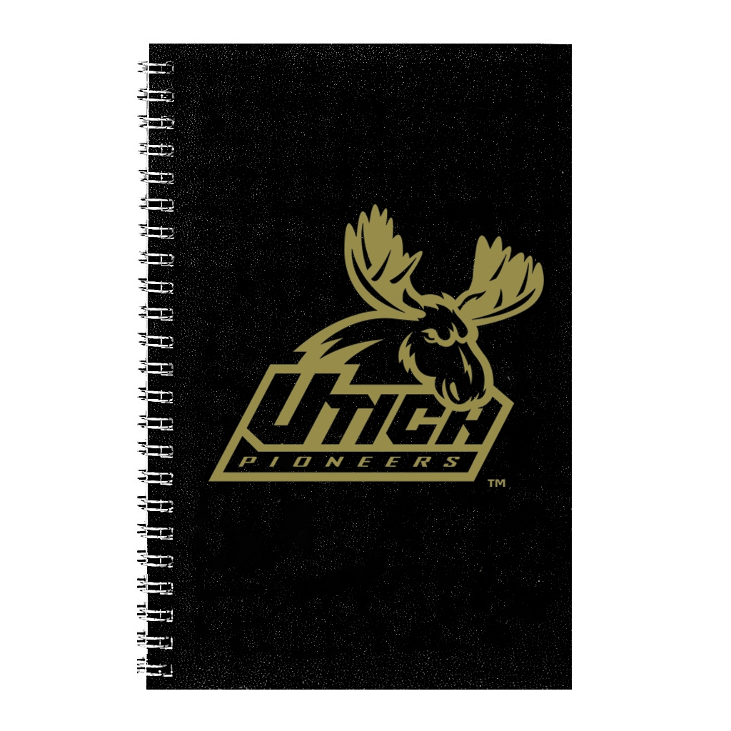 Imprinted Academic Weekly Planner with Black Leatherette Cover 5 x 8 Inches