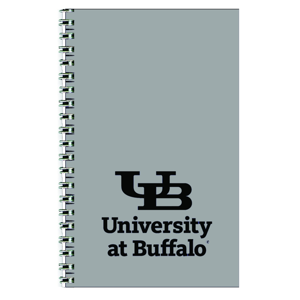 Imprinted Academic Weekly Planner with Light Gray Leatherette Cover 5 x 8 Inches