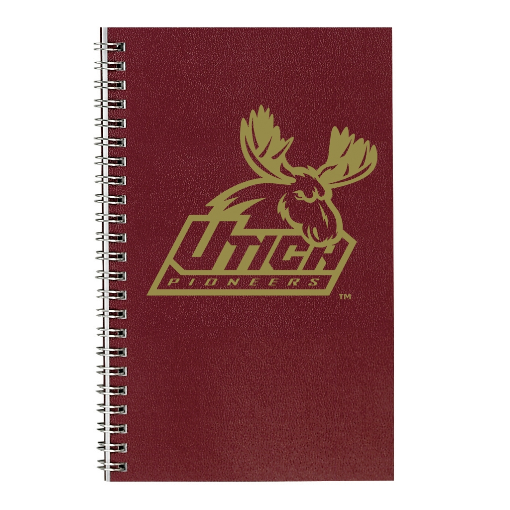 Imprinted Academic Weekly Planner with Burgundy Leatherette Cover 5 x 8 Inches
