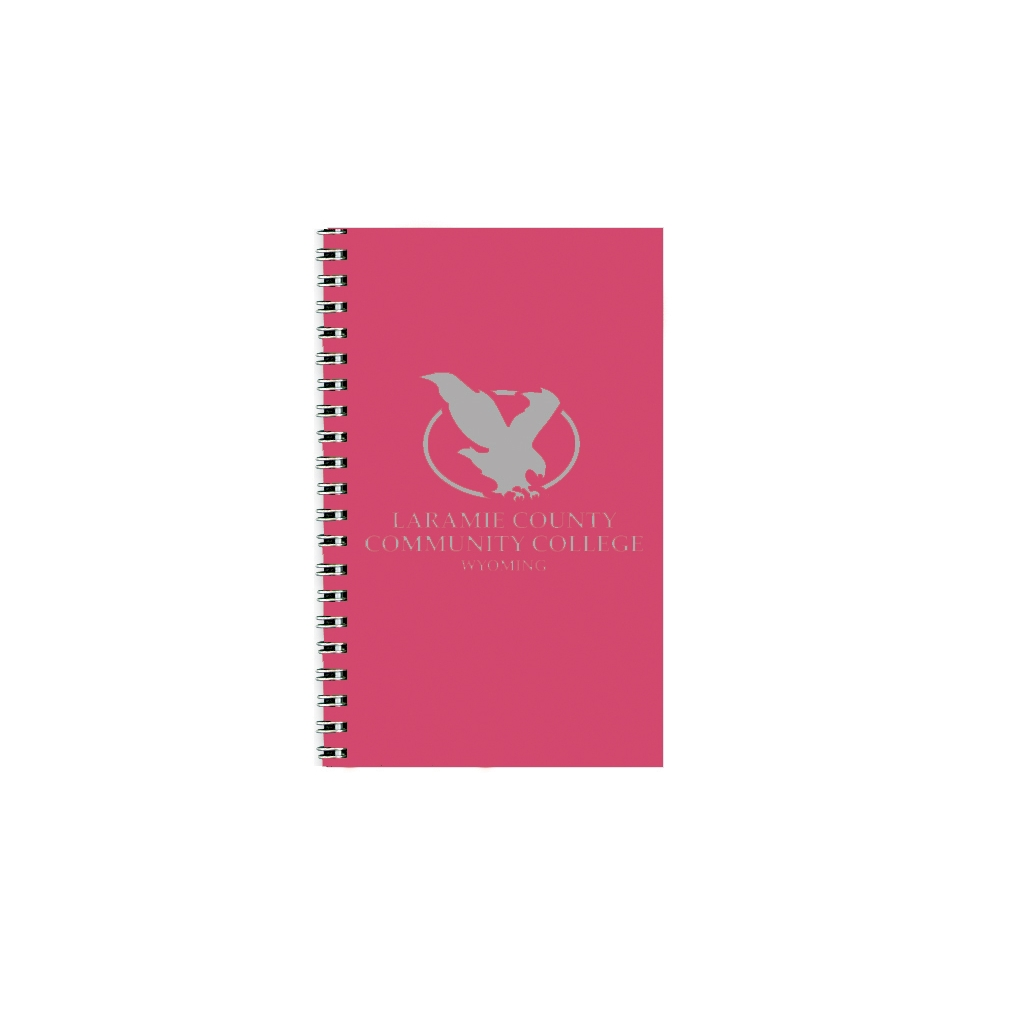 Imprinted Academic Weekly Planner with Dark Pink Leatherette Cover 5 x 8 Inches