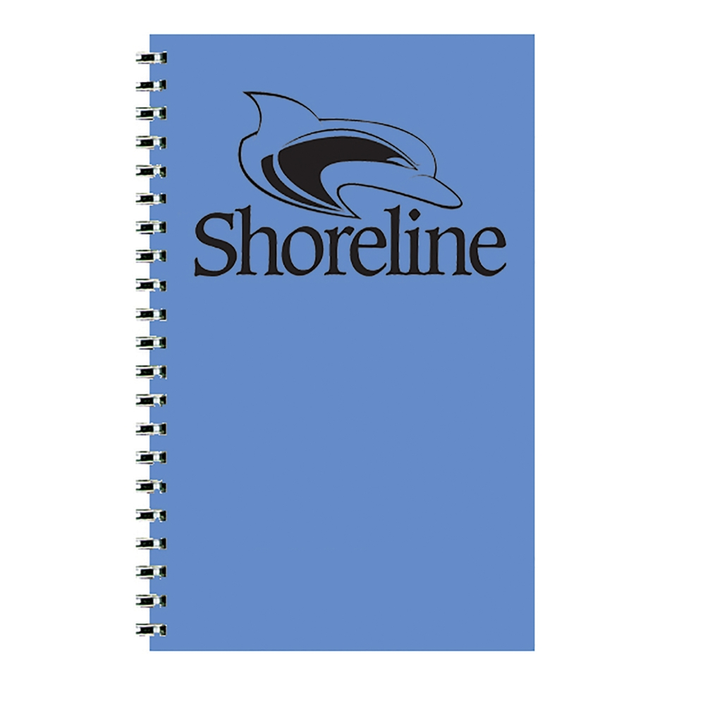 Imprinted Academic Weekly Planner with Bright Blue Leatherette Cover 5 x 8 Inches