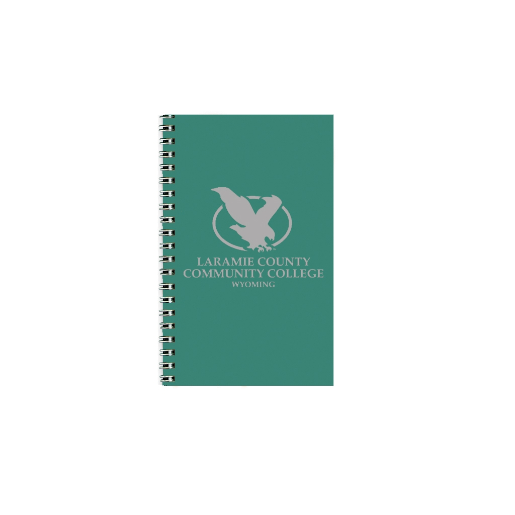 Imprinted Academic Weekly Planner with Bright Green Leatherette Cover 5 x 8 Inches