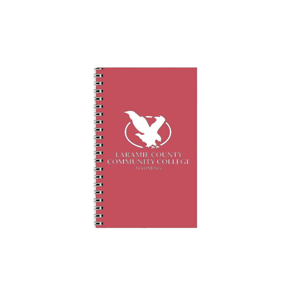 Imprinted Academic Weekly Planner with Cherry Leatherette Cover 5 x 8 Inches