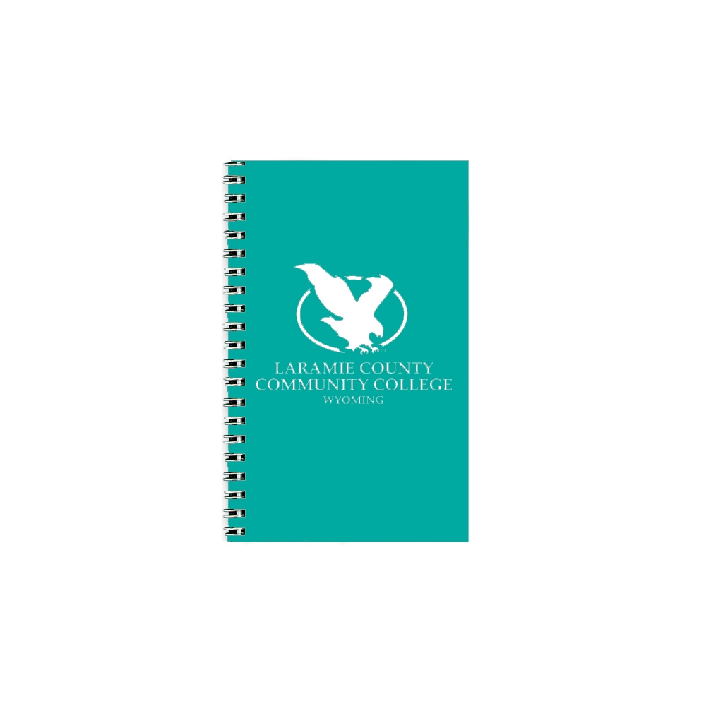 Imprinted Academic Weekly Planner with Teal Vinyl Cover 5 x 8 Inches