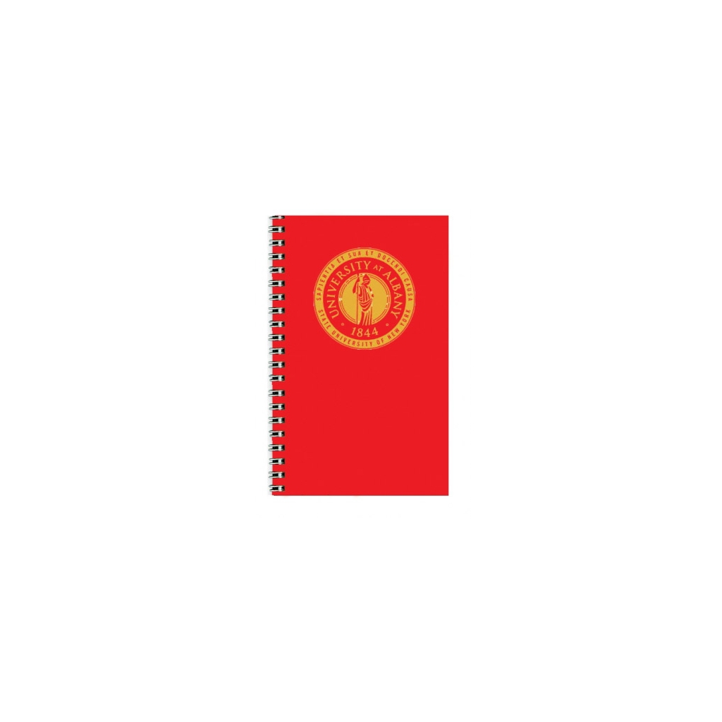 Imprinted Academic Weekly Planner with Red Vinyl Cover 5 x 8 Inches