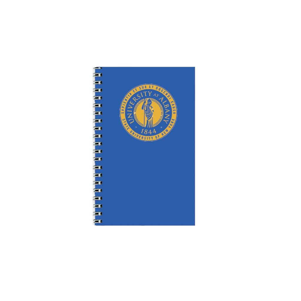 Imprinted Academic Weekly Planner with Blue Vinyl Cover 5 x 8 Inches